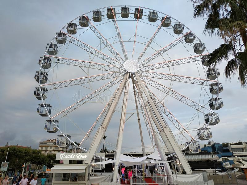 Cannes - Ferris wheel royalty free stock photography