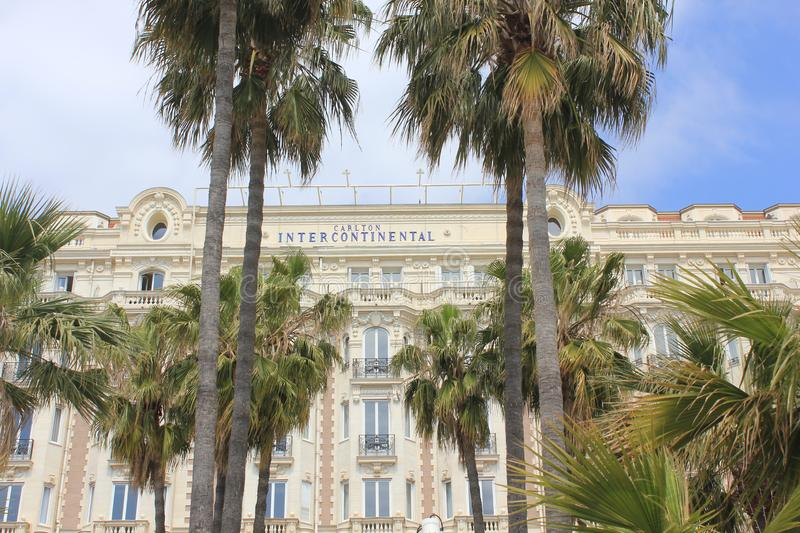 Carlton itercontinental hotel building in Cannes stock photo