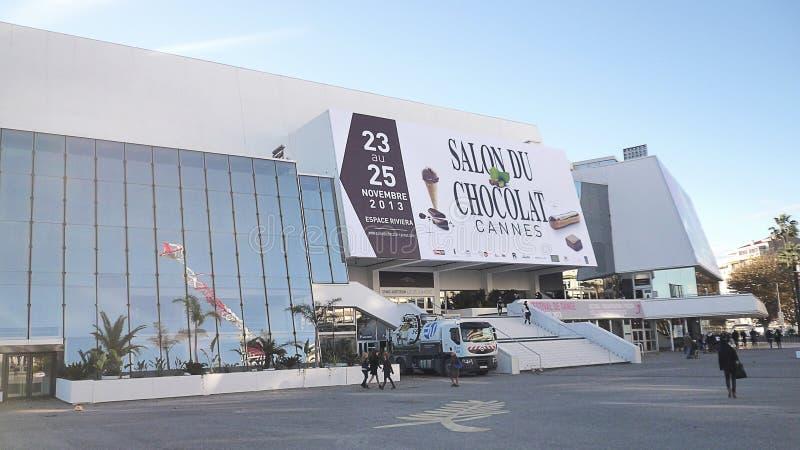 Cannes, France-11/18/2013: Festivais do DES de Palais e DES Concgres, imagens de stock royalty free