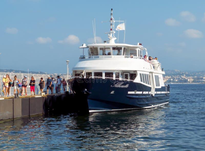 Cannes - Pleasure boat stock photo