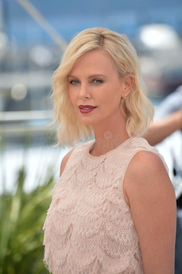 Charlize Theron. CANNES, FRANCE - MAY 20, 2016: Actress Charlize Theron at the photocall for The Last Face at the 69th Festival de Cannes stock photo