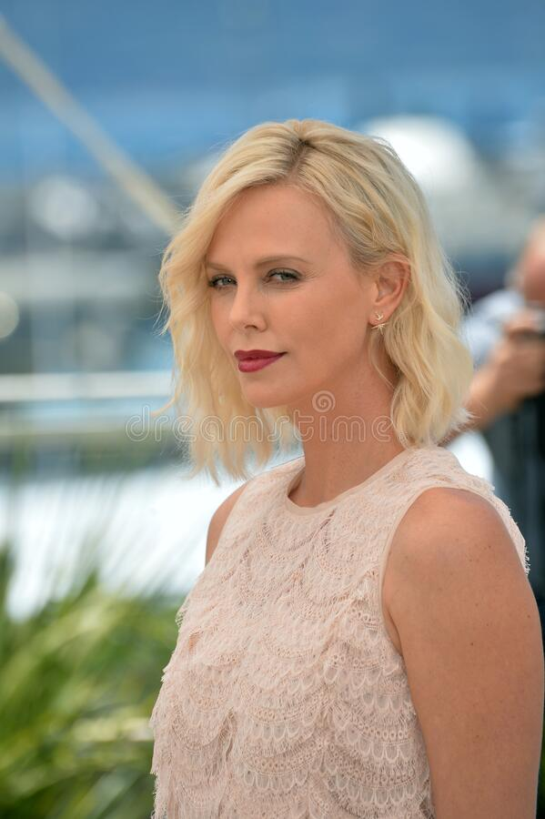 Charlize Theron. CANNES, FRANCE - MAY 20, 2016: Actress Charlize Theron at the photocall for The Last Face at the 69th Festival de Cannes stock images