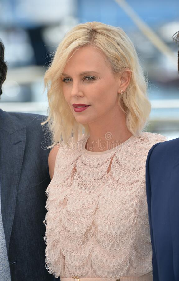 Charlize Theron. CANNES, FRANCE - MAY 20, 2016: Actress Charlize Theron at the photocall for The Last Face at the 69th Festival de Cannes royalty free stock photo