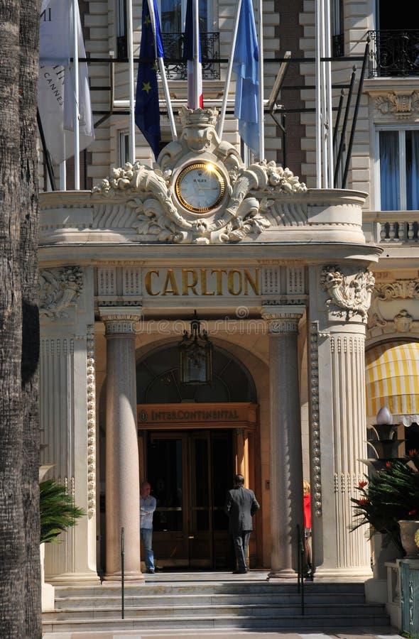 Cannes, Francia - 15 de abril de 2016: Carlton imágenes de archivo libres de regalías