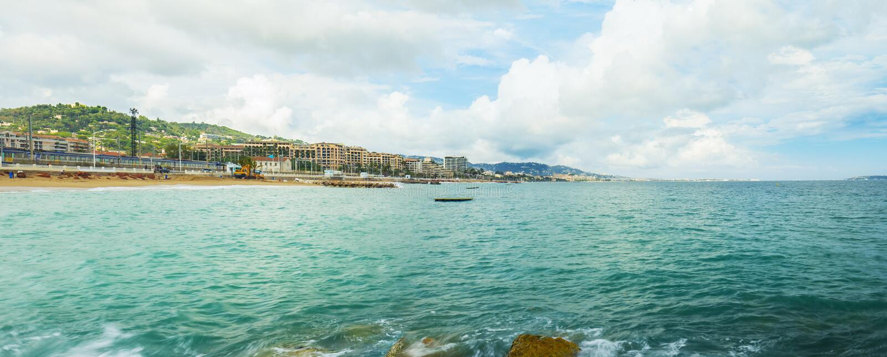 Cannes franska Riviera, panorama arkivfoton