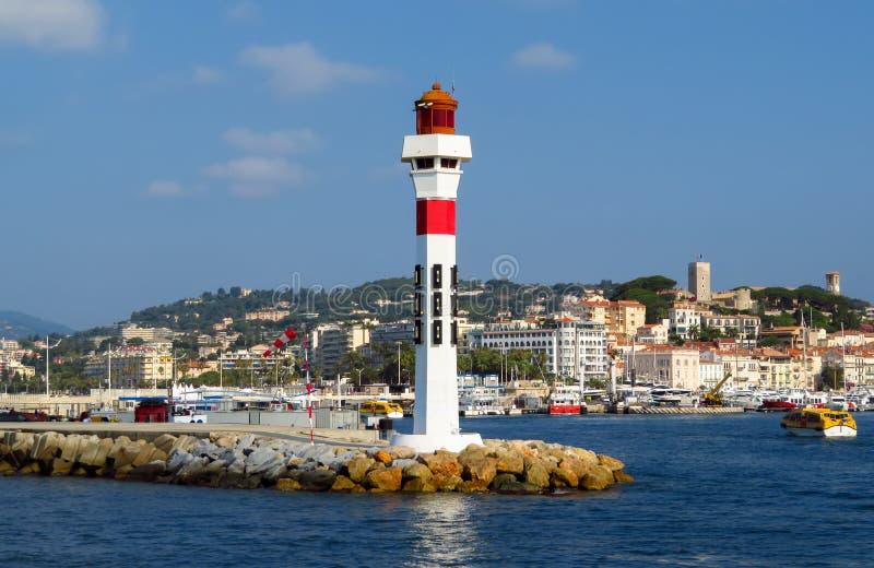 Cannes - fyr royaltyfri fotografi