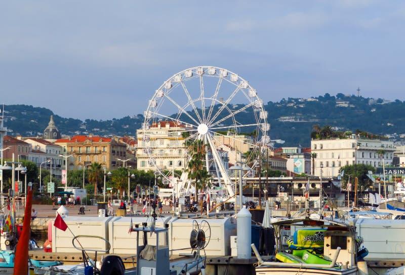 Cannes - grande roue photo libre de droits