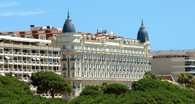 cannes hotel obraz stock