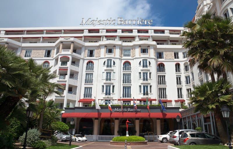 Cannes - hotel Barriere maestoso fotografia stock libera da diritti