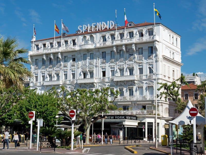 Cannes - hotel splendido immagini stock