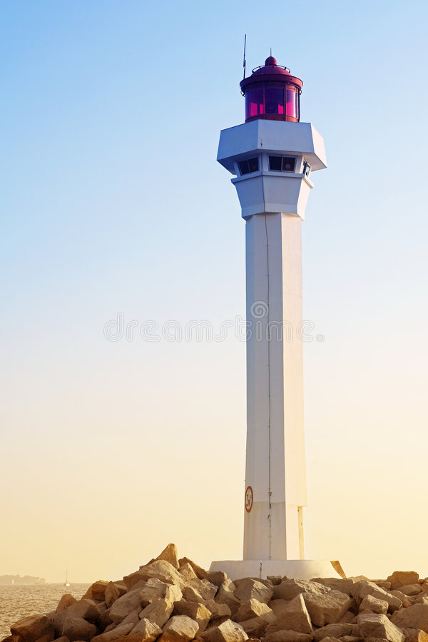 Cannes Lighthouse stock photos