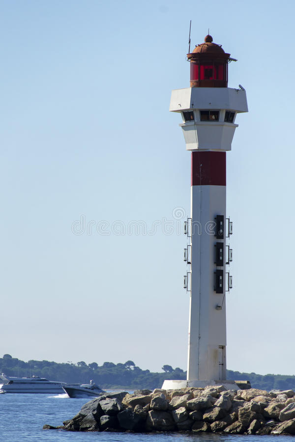 Cannes Lighthouse stock photography