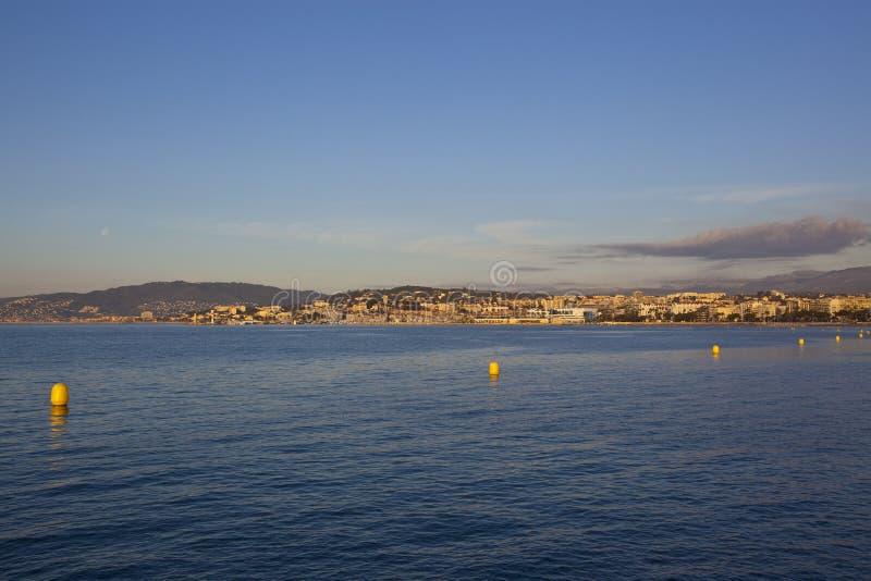 Cannes, mooie kustmening Frankrijk royalty-vrije stock afbeelding