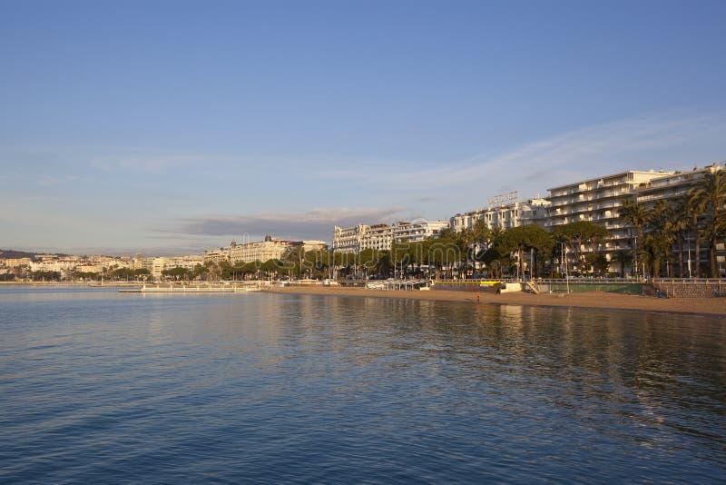 Cannes, mooie kustmening, Frankrijk stock afbeeldingen