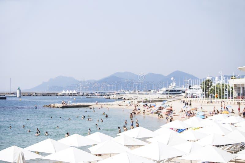 Cannes na pla?y zdjęcia royalty free