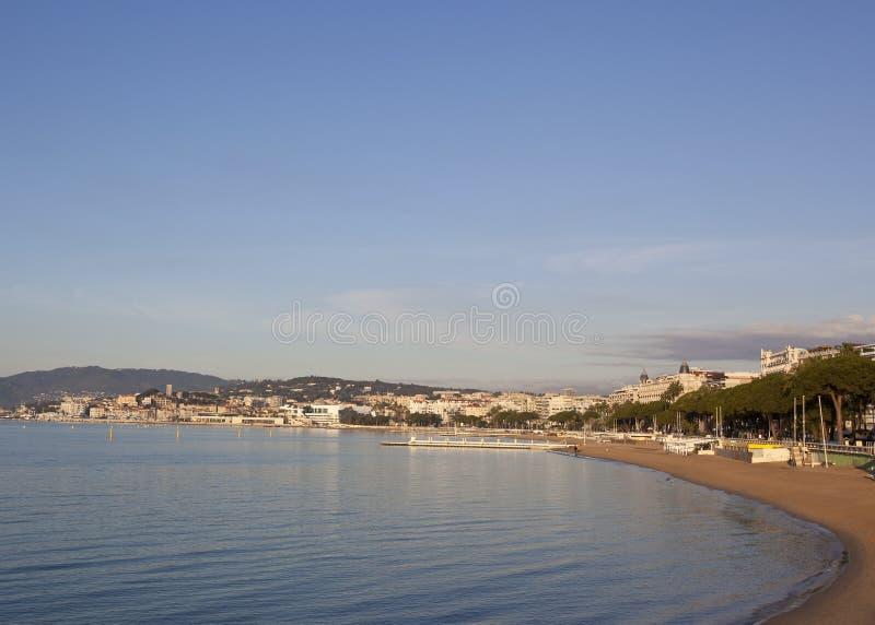 Cannes in ochtendtijd royalty-vrije stock afbeelding