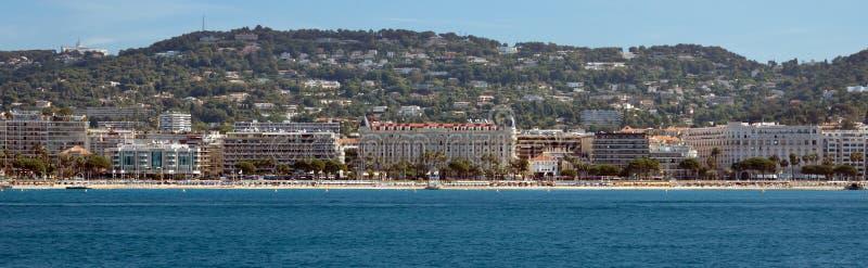 Cannes - Panoramiczny widok los angeles Croisette fotografia royalty free