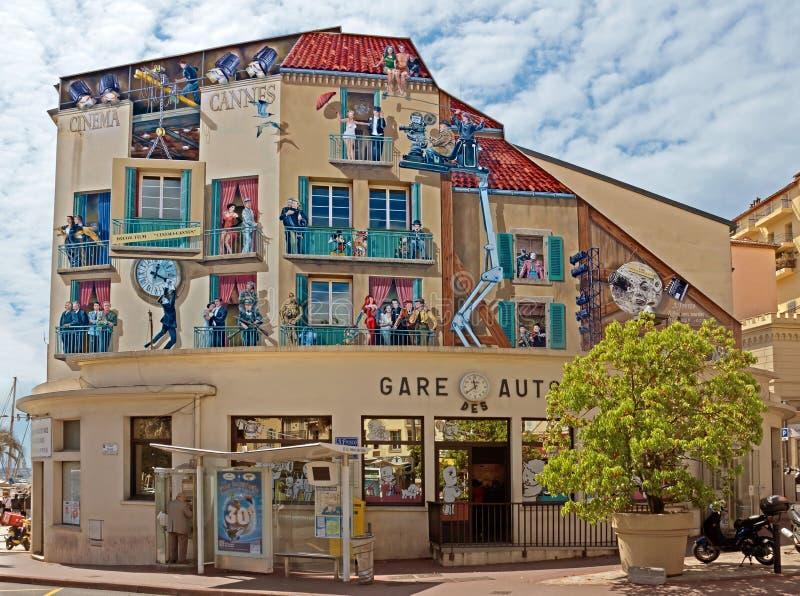Cannes - pittura di arte sulla parete immagini stock