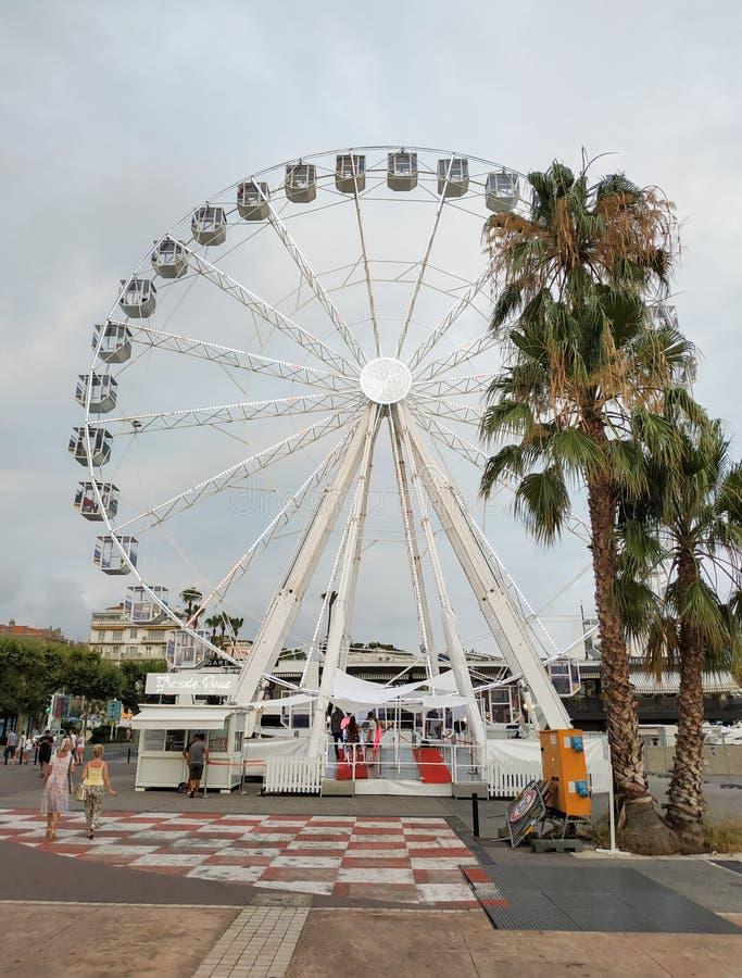 Cannes - Reuzenrad stock afbeelding