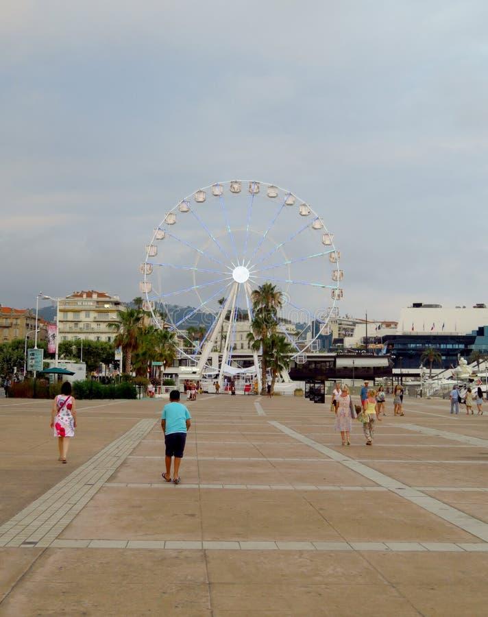 Cannes - Reuzenrad royalty-vrije stock afbeelding