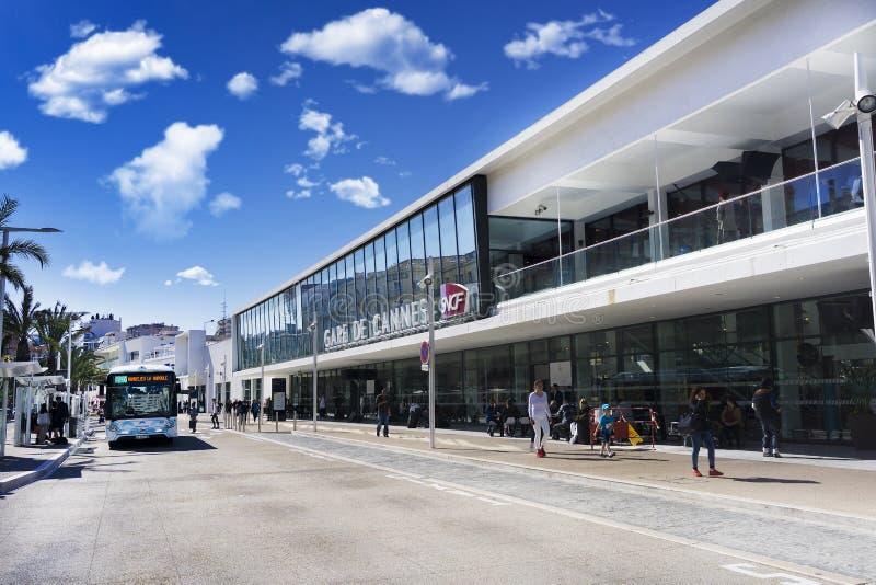 Cannes stacja kolejowa, Europa, Francja obrazy stock