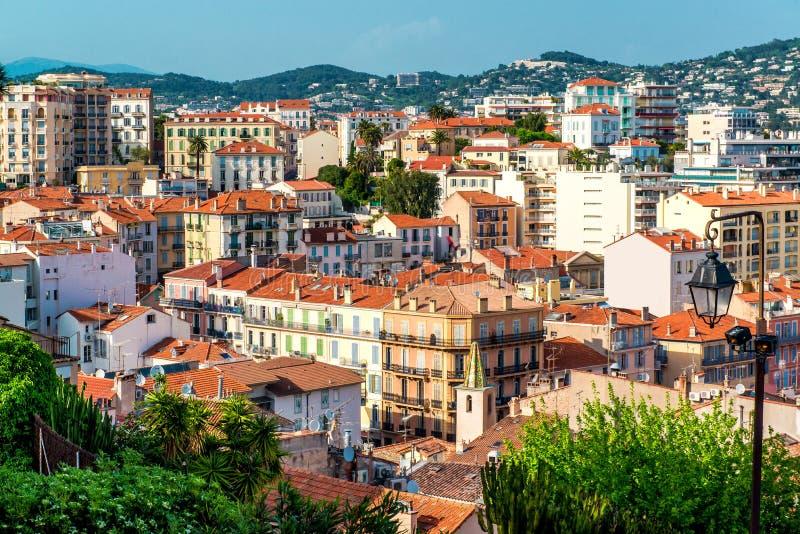 Cannes stad royaltyfri fotografi