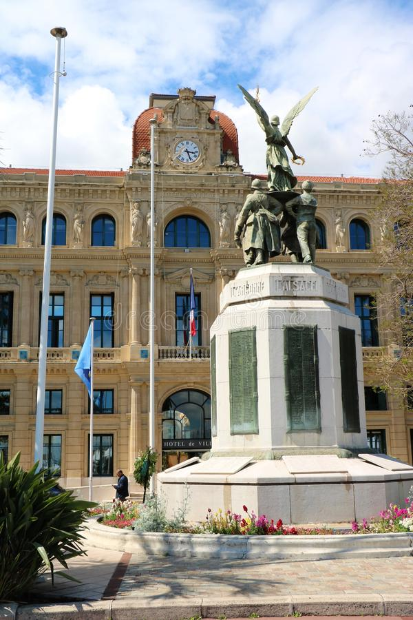 Cannes urząd miasta zdjęcia stock