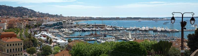 Cannes - vista panorâmica fotografia de stock royalty free