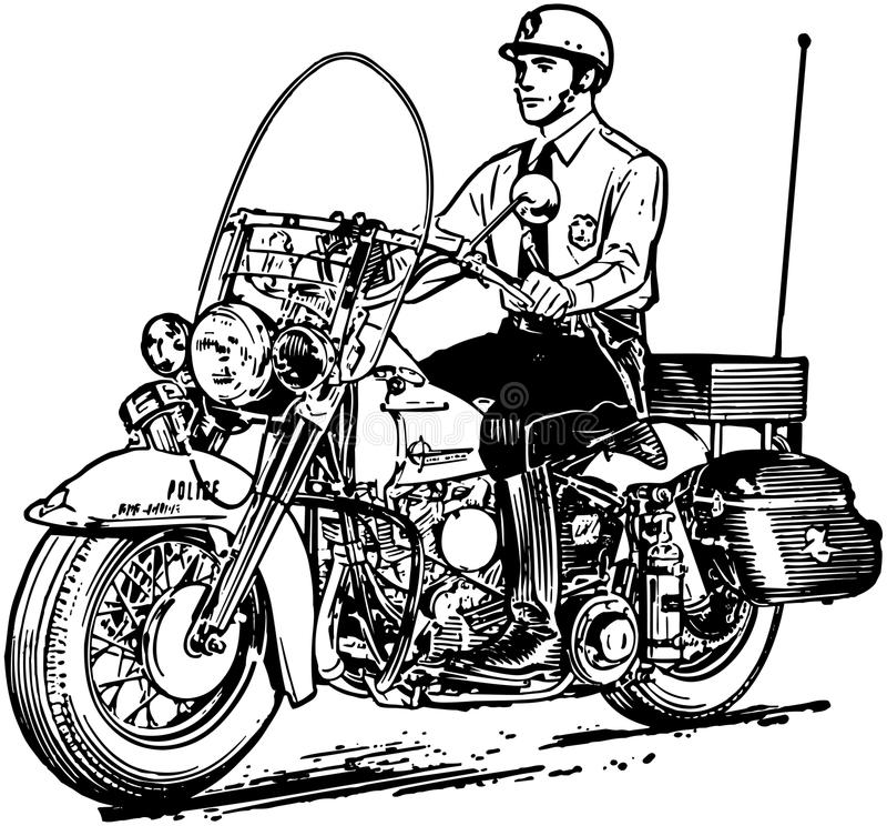 Cannette de fil de moto illustration de vecteur