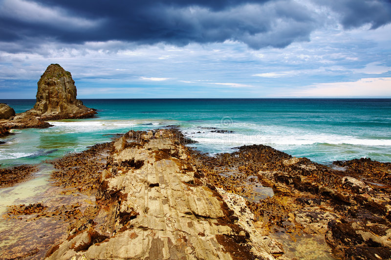 Cannibal Bay, New Zealand Royalty Free Stock Images