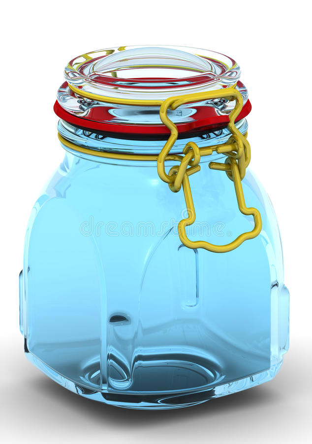 Canning jar. Glass Jars for canning and preserving. With locked lid. . 3D Illustration vector illustration