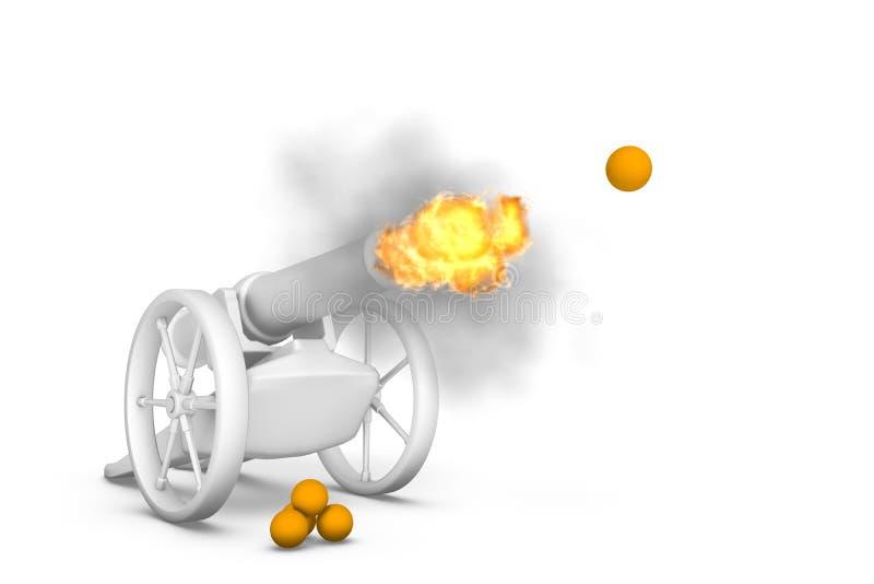 Download Cannon stock illustration. Illustration of boom, siege - 12239222