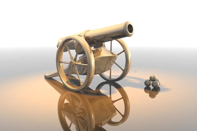 Download Cannon stock illustration. Image of relic, siege, weaponry - 12239235