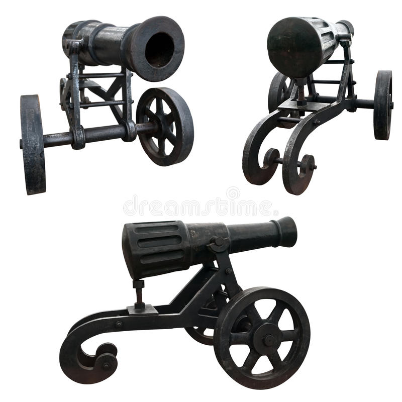 Download Cannon stock photo. Image of wheeled, fashioned, object - 21823756