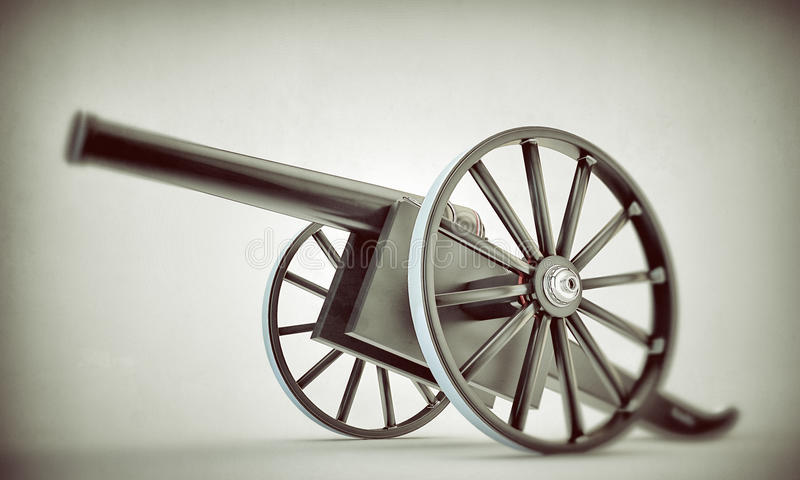 Download Cannon stock illustration. Image of firearm, carriage - 25067698