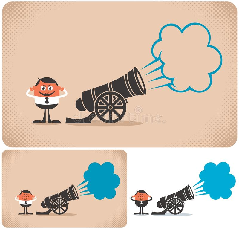 Download Cannon stock vector. Image of concept, cannonade, character - 25764035
