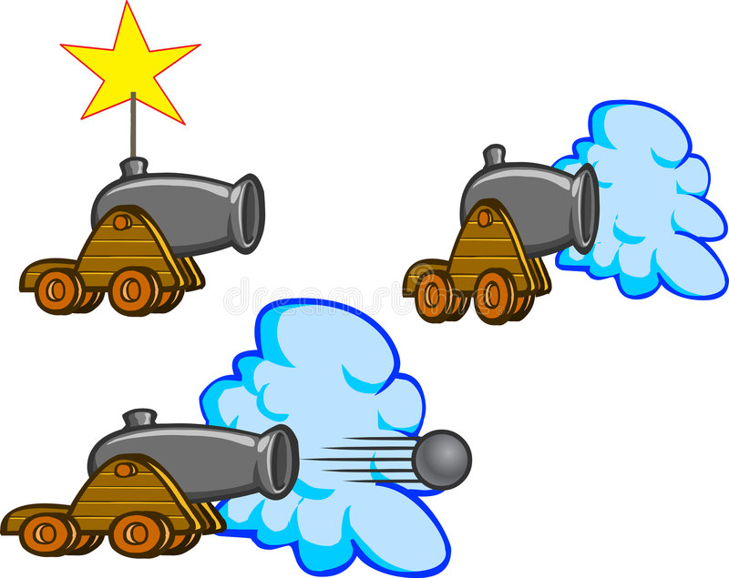 Download Cannon stock vector. Image of cannonball, army, ball, battle - 2613167
