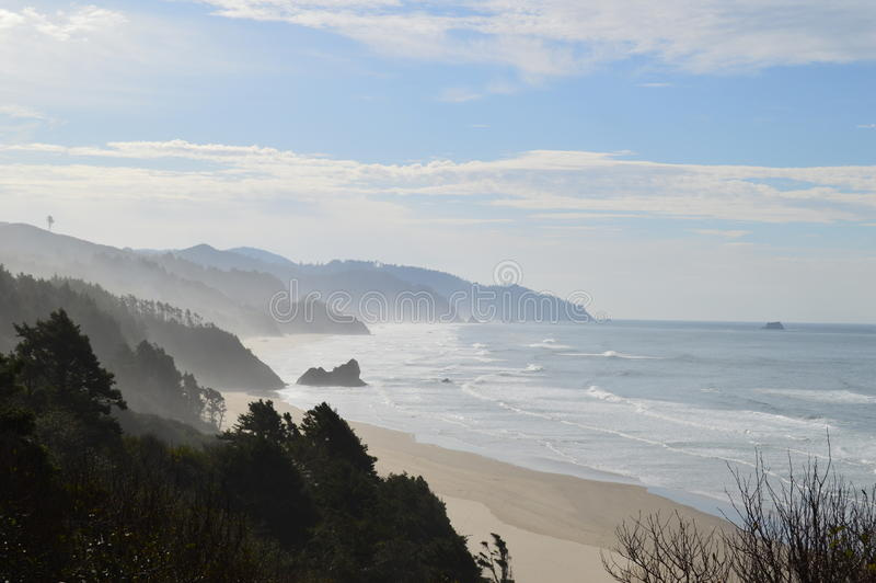 Cannon Beach. Beautiful view of the Cannon Beach Shoreline at Cannon Beach, Oregon royalty free stock photos
