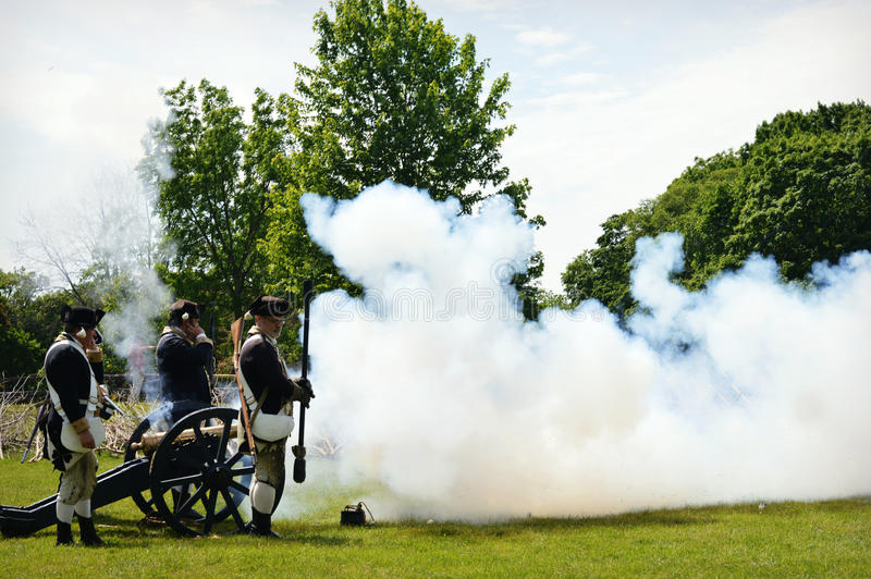 Cannon Blast stock images