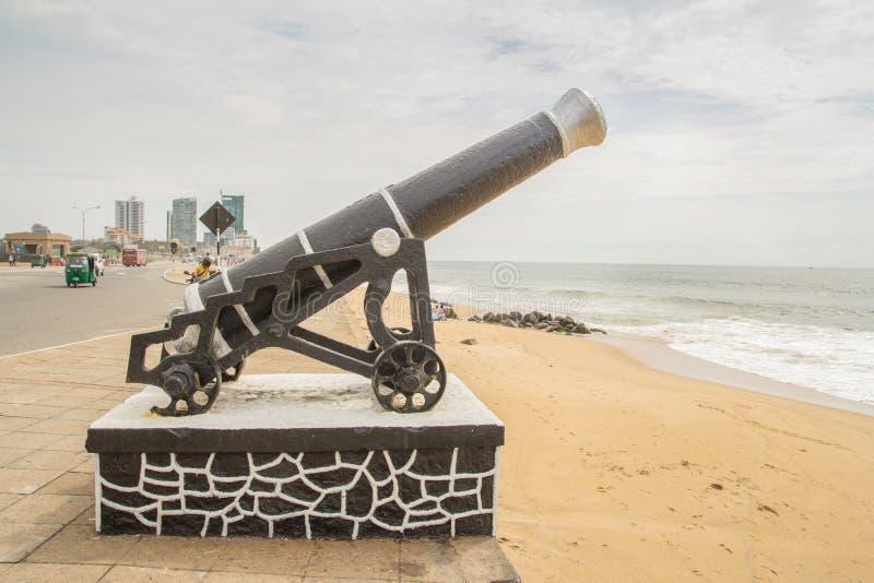 Cannon in colombo sri lanka. Cannon in colombo beach sri lanka royalty free stock photo