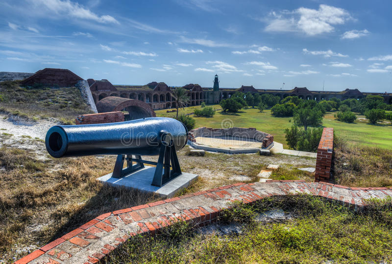 Cannon in Fort Jefferson, Florida. Cannon in Fort Jefferson at the Dry Tortugas National Park, Florida royalty free stock photography