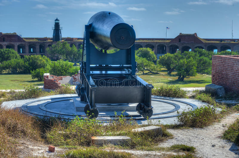 Cannon in Fort Jefferson, Florida. Cannon in Fort Jefferson at the Dry Tortugas National Park, Florida stock images