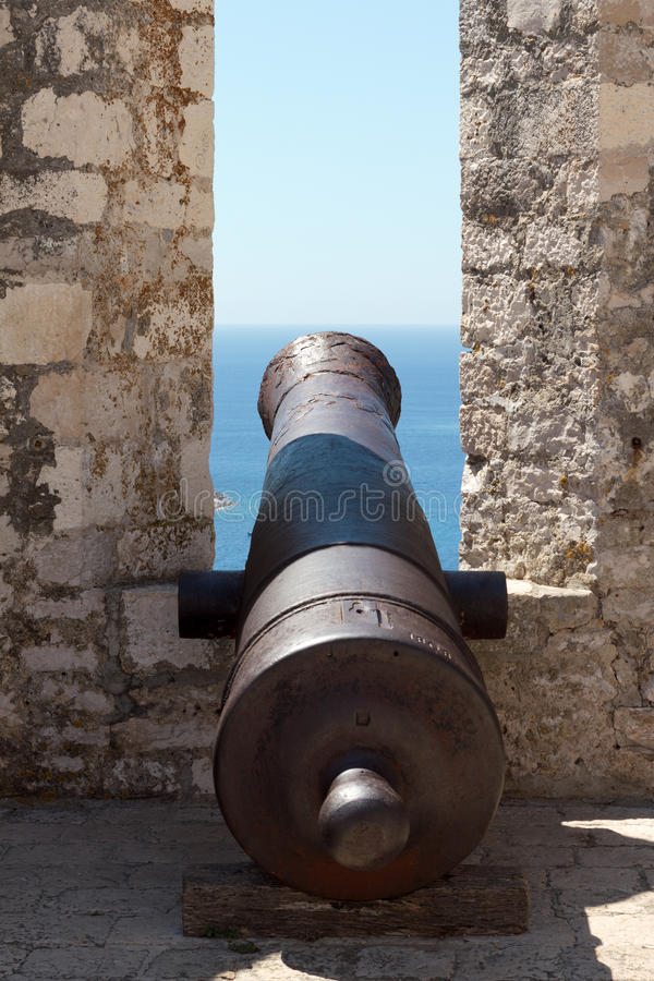 Cannon In A Medieval Castle Royalty Free Stock Photography