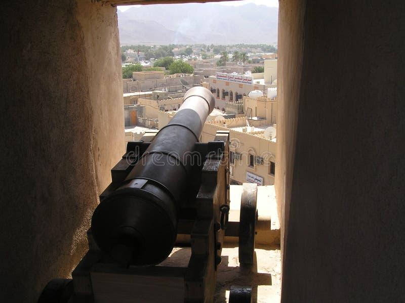Cannon of Nizwa Fort stock photo