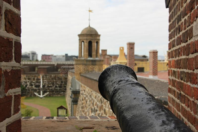 Cannon. A Cannon pointing out of the Castle of Good Hope in Cape Town, South Africa stock photo