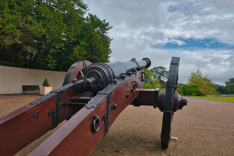 A cannon at the site where the famous Battle of Boyne, Irland, was fought. stock photography