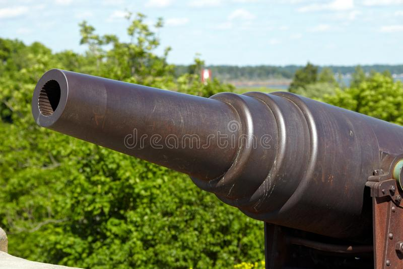 Cannon in Suomenlinna fortress royalty free stock photography