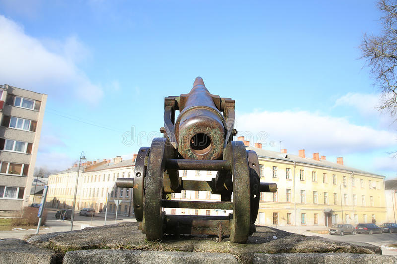 Cannon Of 19th Century In Daugavpils Fortress Stock Image Image