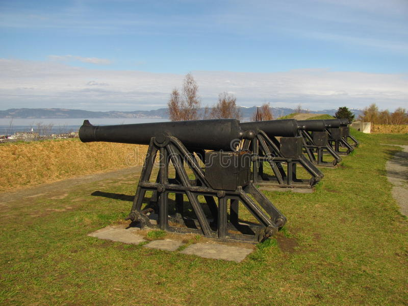 Cannon. From Trondheim - Norway Kristiansten fortress royalty free stock image