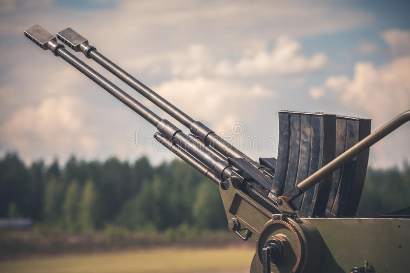 Cannon tubes stock photo